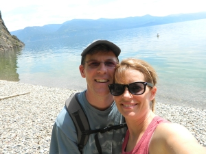 Celebrating our 20th anniversary on the Maiden Rock Hiking Trail at Lake Pend Oreille, Idaho.