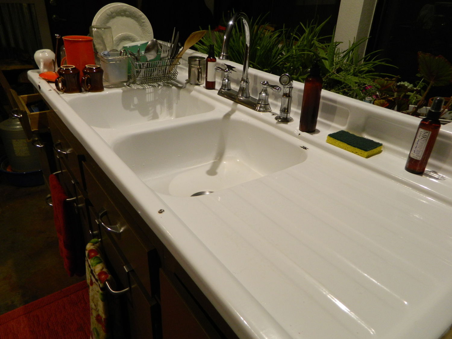 Drainboard Kitchen Sinks I love my kitchen sink paupers candles is living a sustainable dream our 1940s farmhouse double drain board double sink workwithnaturefo