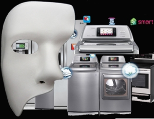 "A collage of ""smart"" appliances and the Phantom of the Home"
