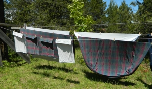 Sheets on our Clothesline