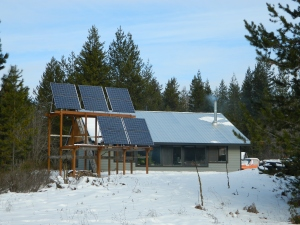 Our 10 REC solar panels mounted 2 to a grouping  producing 24 volts in a pair instead of 12 volts as an individual.