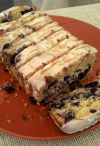 Lemon Blueberry Pound Cake by the slice.  Mmmmm