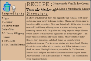 Enjoy our Vanilla Ice Cream Recipe!