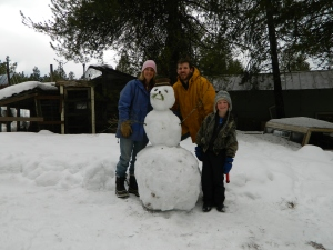 When all else fails... Make a snowman.