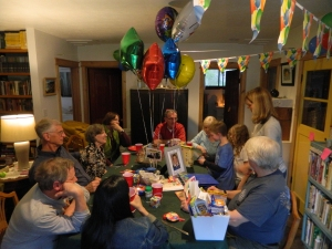 It's a party... Our family and friends gather together to celebrate Webber Forever Day.