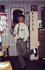 Ah, the good ol' days... My second year of teaching in which all was needed was a walkies-talkie, a cup of coffee, and a skip in each step.