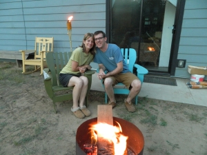 Home sweet home... Relaxing around the fire on a nice evening at home. Making our home our favorite vacation destination.