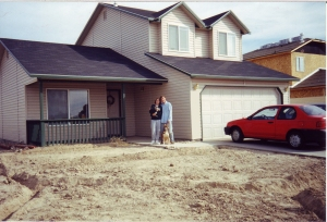 Back to the 90's... This was our first house in a subdivision in the Treasure Valley. Having a home was fun, but this one was no investment. It's a long story...
