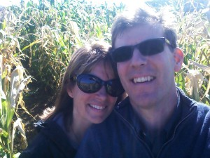 Chillin in the corn maze... Krista visits me in the corn while I search all the paths that bring me closer to her rather than escaping.