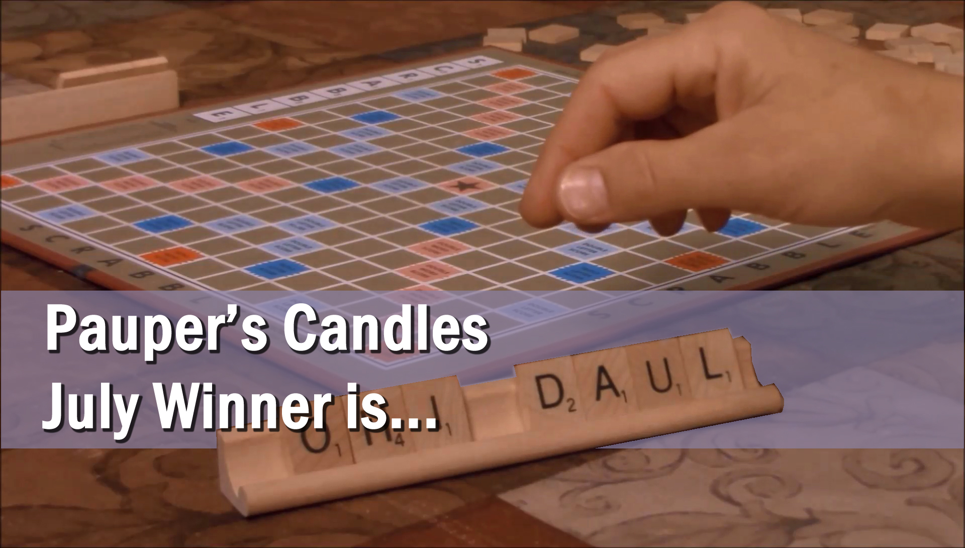 Pauper's Candles July Candle Give-Away Winner!!