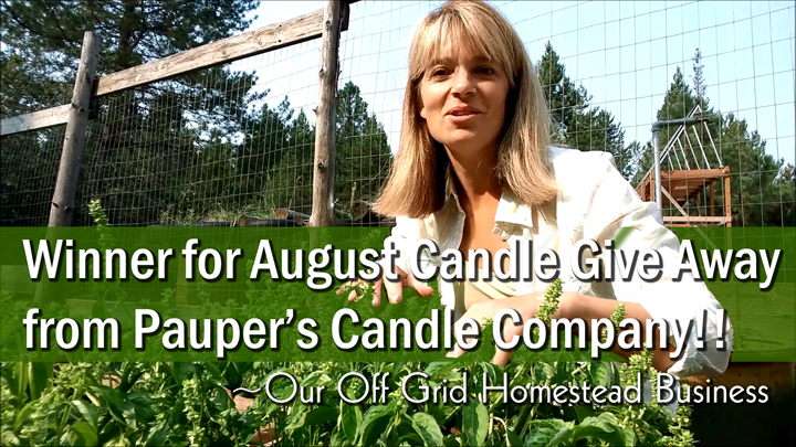 August Winner for Our Candle Give Away!!!