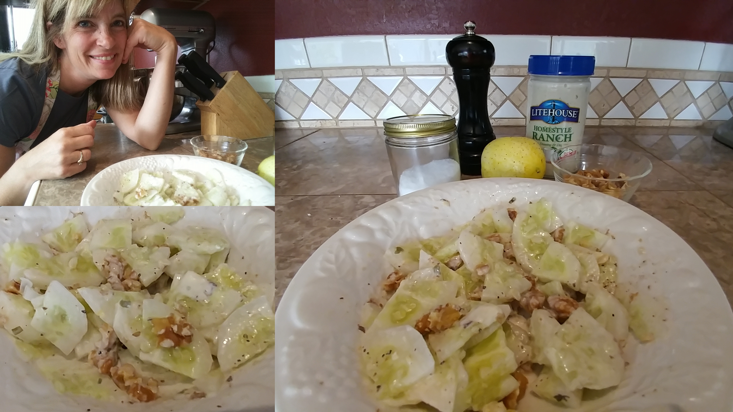 Garden Fresh: Lemon Cucumber Walnut Salad
