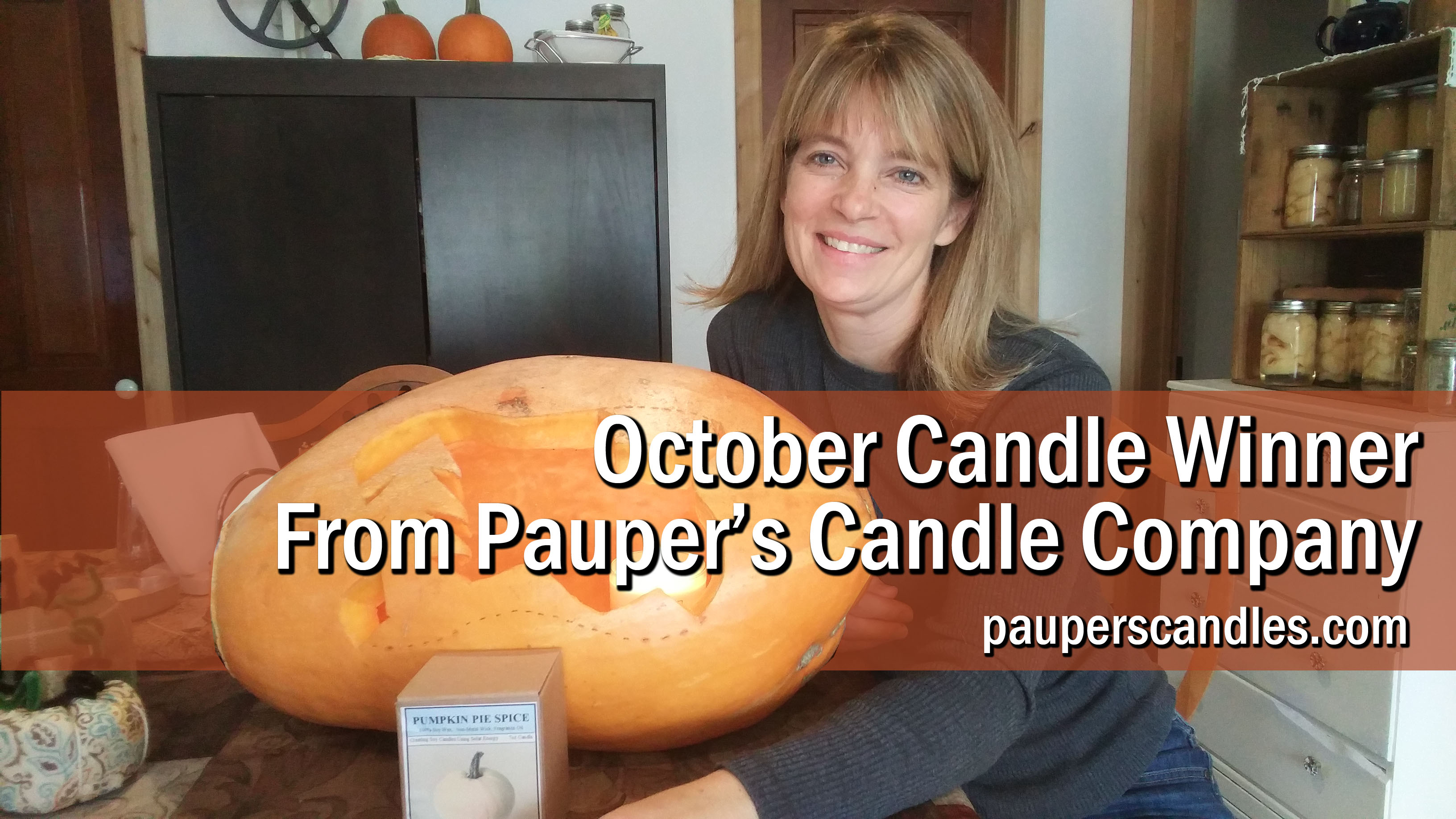 Our Off Grid Business Pauper's Candles October Candle Give Away Winner…