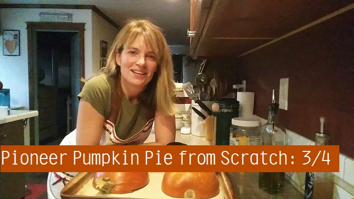 Cooking with My Wood Cook Stove – Pioneer Pumpkin Pie from Scratch: 3/4