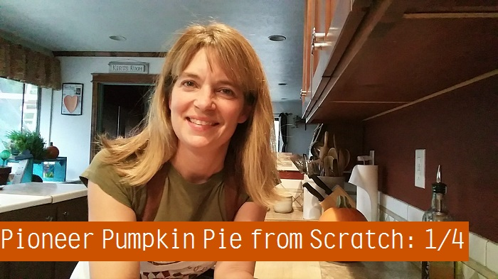 Cooking with My Wood Cook Stove – Pioneer Pumpkin Pie from Scratch: 1/4