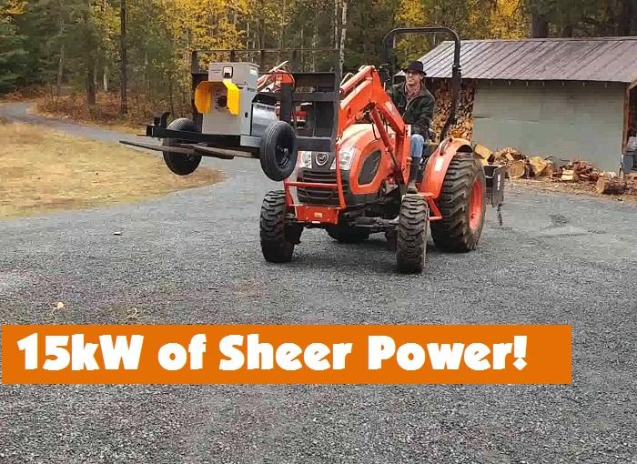 Tractor + Generator = Power