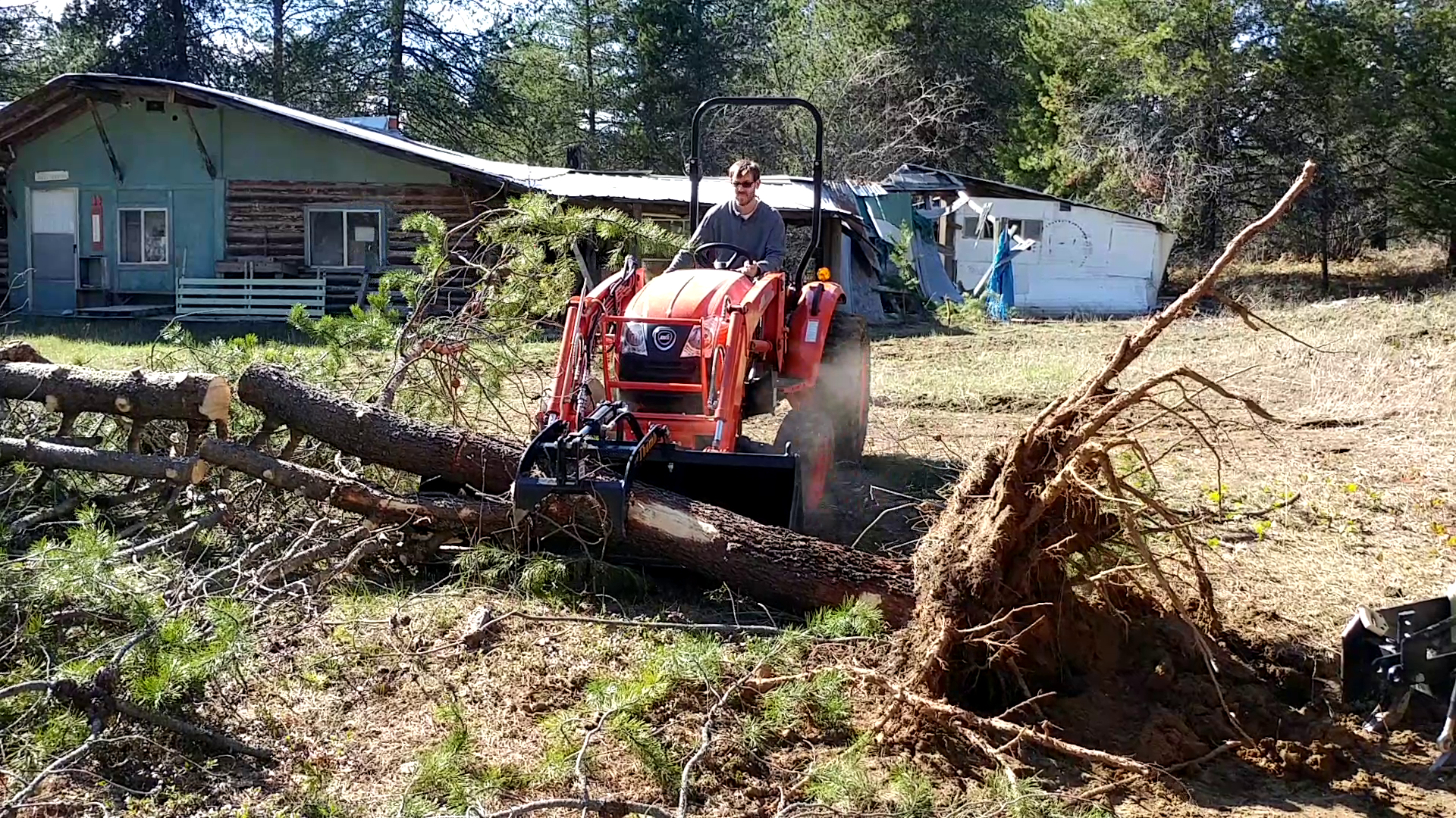 Back Saver, Tree and Stump Remover is Kioti Tractor
