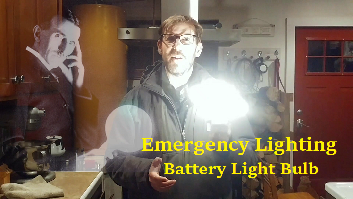 Emergency Lighting: Battery Powered LED Light Bulb